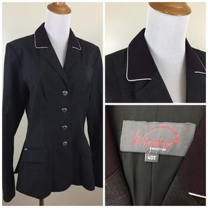 WINSTON Equestrian Piping Wool Show Jacket Blazer